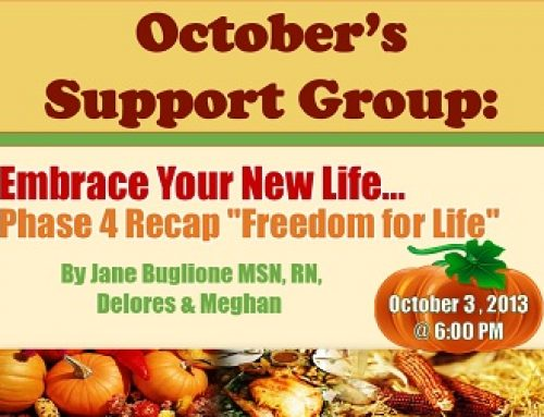 """Support Group: """"Embrace Your New Life… Phase 4 Recap"""""""