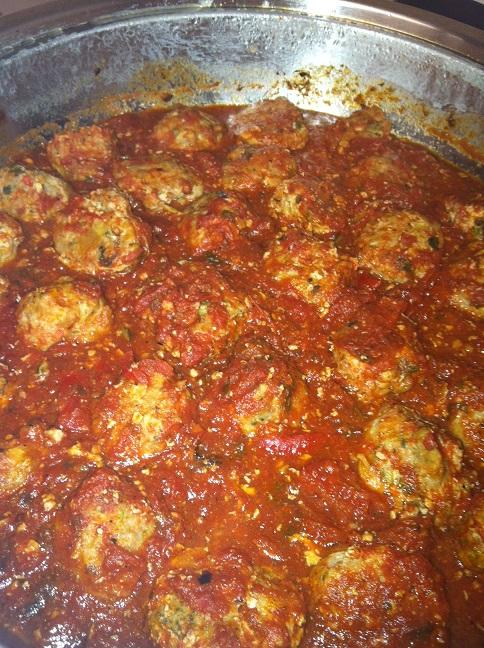 Turkey or Chicken Meatballs with Tomato Basil Sauce