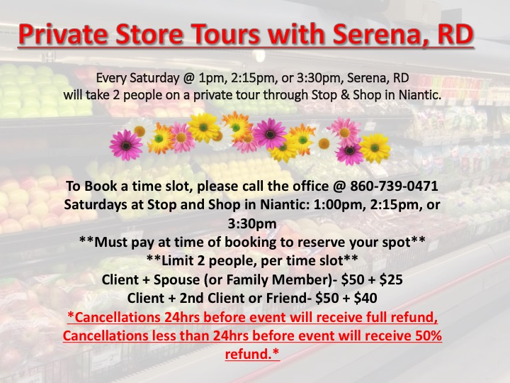 Saturday Private Grocery Tours with Serena, RD